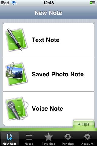 iPod touchでメモするならEvernoteが便利