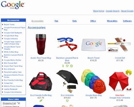 GoogleStoreを見ているとなんとなく欲しくなる